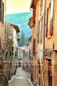 """St Guilhem le désert est un beau village perché à 35 kilomètres de Montpellier. Il fait partie des """"plus beaux villages de France"""". https://travelsfrance.com/fr/endroits-visiter/saint-guilhem-le-desert/"""