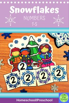 These Snowflake Number Lessons are the perfect addition for Math Centers for homeschool/ preschool. This time saving, leveled resource is engaging with its vibrant pictures and stimulating content! Your multi-aged 2-3 year old children will enjoy learning about the Snowflake and numbers with these interactive lessons. Numbers Preschool, Preschool Math, Preschool Winter, Morning Activities, Dramatic Play, Early Childhood Education, Elementary Math, School Classroom, Literacy Centers