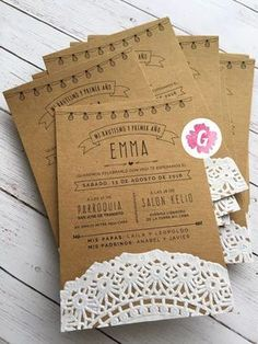 Invitations of 15 years 2018 Invitation Cards, Wedding Invitations, Print Invitations, Modern Invitations, Quinceanera Invitations, Wedding Favors, Baby Shower Deco, Deco Champetre, Baptism Party