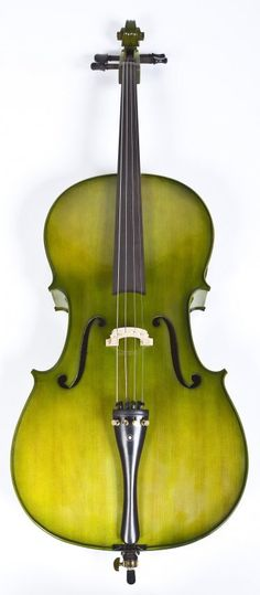 Green Stained Cello with Black Case. Not sure about this I love the colour but on a cello? Cello Art, Cello Music, Cellos, Flautas, The Jam Band, Music Is Life, Soul Music, Music Stuff, Shades Of Green