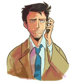 I am assuming this is from Supernatural.but I just like the drawing, cause he looks like he is just on the verge. Supernatural Fans, Castiel, Supernatural Drawings, Misha Collins, Impala 67, Angels And Demons, Super Natural, Cultura Pop, Best Tv Shows