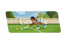 #GoogleDoodle for #London2012 Olympics - hockey