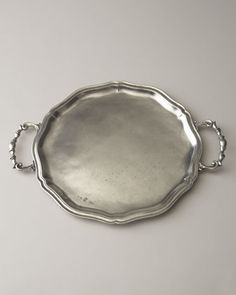 Handled Pewter Charger Plate by ValPeltro at Neiman Marcus.