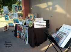 The show season has started here in Phoenix and last night I participated in the Chandler Art Walk in Historic Downtown Chandler. This wonderful show happens the third Friday of every month f… Craft Show Displays, Display Ideas, Art Walk, Art Market, Craft Fairs, Drafting Desk, Business, Furniture, Third