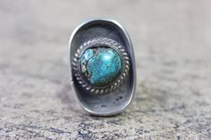 Vintage Turquoise RING / Bohemian Jewelry / by SouthwestVintage