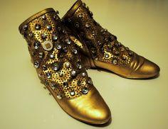 Diy Gold Shoes :) my design