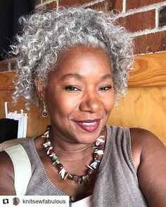 Black. Gray. Gorgeous. You better slay @KnitSewFabulous!! #GrayHair #GrayNTextured #BlackEntrepreneur #KnitSewFabulous #MichiganBusinessOwner #BlackBusinessOwner #MichiganGrayMichiganSlay #SistaYourGrayHairIsBeautiful #Repost @knitsewfabulous The look of satisfaction! I had the Mini Shrimp and Grits. Deliciously Sinful. I will be back! #goodfood #readventures #reathegal #readagal