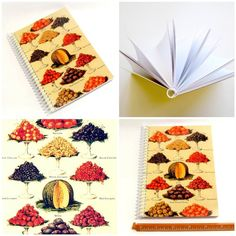 Fruits  Spiral Notebook 5 x 7 by Ciaffi on Etsy, $13.00