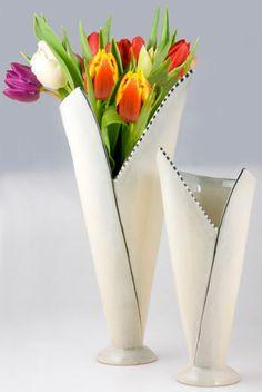 """How to wrap Flowers"" Vase by Danish ceramic designer Ulla Sonne"