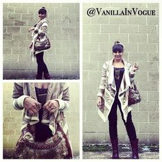 Shopping day with my man! sweater fur purse #vanillainvogue @Vanillainvogue ring to wrist bracelet