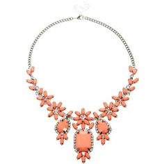 Johnny Loves Rosie Coral Amelie Multi-Floral Statement Necklace
