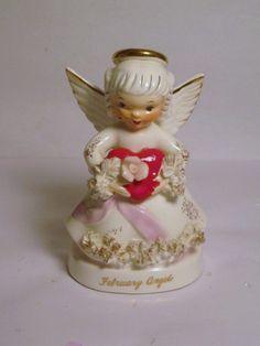 Napco Ceramic Porcelain FEBRUARY Birthday by BrilbunnySelections, $25.00