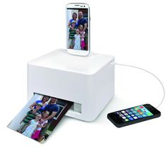 4x6 Photo Printer - works with any iPhone, iPad or Android device.  What?! MUST FIND.