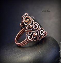 Wire Jewelry Rings, Jewelry Art, Jewelery, Jewelry Design, Jewelry Ideas, Bijoux Fil Aluminium, Wire Pendant, Wire Wrapped Rings, Copper Rings