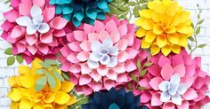 Easy Giant Paper Dahlias + Printable Template! TO REDIRECT TO THIS POST ON OUR NEW CORRECT SITE PLEASE CLICK HERE.  ...