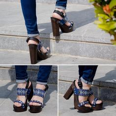 Chunky Heels  #lookbook #lovefashiongr #fashion #fashionblog #fashionblogger #greekbloggers #streetstyle #alexiaboutique #chunkyheels #highheels #alexiaboutique #wearflogg #blue #ss2016 #followme