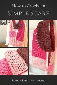 Scarf Love – Valentine's Day Crochet Pattern – Fandom Knitting & Crochet. Get the free pattern in this post. Crochet Gifts, Free Crochet, Knit Crochet, Crotchet Stitches, Holiday Crochet, Easy Crochet Patterns, Crochet Designs, Knitting Patterns, Crochet Ideas