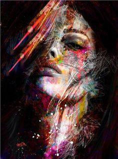 Abstract Graffiti Art Wall Paintings Print On Canvas Pop Art Canvas. Graffiti Art, L'art Du Portrait, Abstract Portrait, Beauty Portrait, Arte Pop, Desenho Pop Art, Images D'art, Art Visage, Wall Art Pictures