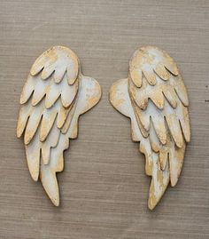 tutorial for making your own wings from cardboard, paint, and gold foil