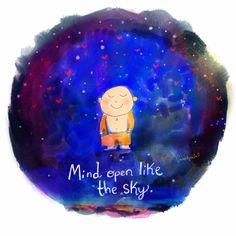 Be open minded like a sky