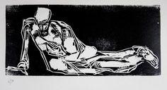 """Lorenzo Viani (Viareggio 1882 - Lido di Ostia 1936), """"La disgrazia"""" Cartella edit. mm 505x355 contenente 8 xilografie originali di Lorenzo Viani: La disgrazia"""