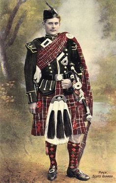 Piper Scots Guard - hand tinted