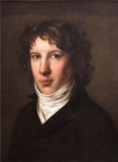 Louis Antoine de Saint Just, 1793 painted by Pierre-Paul Prud'hon. Called 'the Angel of Death' so was his enthusiasm for sentencing people to #death during the Reign of #Terror, particularly the King. He ended up also dying by #guillotine, 28 July 1794 age 26.