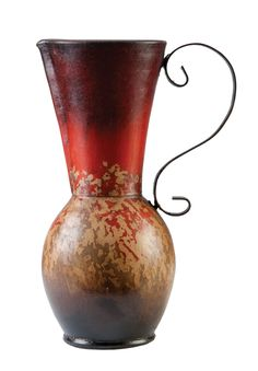 Large painted clay pitcher with wrought iron handle, Artistry. | WHIRL@Home: Fall 2012 | Photography: Cayla Zahoran