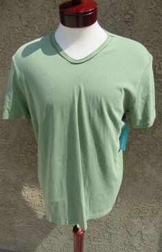 VelvetMen Velvet by Graham & Spencer T-Shirt Crew Neck Vintage Wash Green M $59 #Velvet #BasicTee