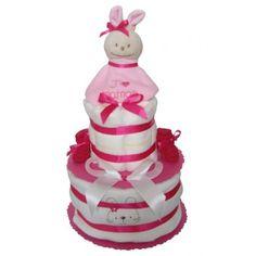 Gateau de couches à offrir pour un cadeau naissance fille Cadeau Baby Shower, Couches, Children, Cake, Desserts, Food, Bunny, Handmade, Young Children