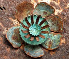 Patina Blossom | Having fun with rust! Vintage findings from Jems Gems on Etsy, Jax patina.