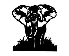 African Elephant Coming At You Hand Cut by mountainbrook on Etsy, $22.00