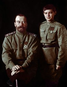 Tsar Nicholas II of Russia with his fifth, youngest child and only son, Tsesarevich Alexei Nikolaevich Romanov of Russia year c. Father and son Princess Victoria, Queen Victoria, Russian Literature, White Russian, Tsar Nicholas Ii, Imperial Russia, Beautiful Family, Queen Elizabeth Ii, Father And Son