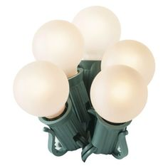 25ct. White Satin G30 Globe String Lights - Green Wire  $8.99