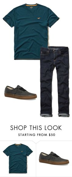 """Boys C 15"" by tobyla on Polyvore featuring Hollister Co., Vans, men's fashion, menswear, vans and teenboys"