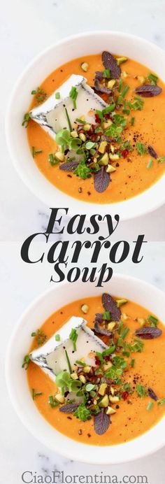 Easy Carrot Soup Recipe | CiaoFlorentina.com @CiaoFlorentina