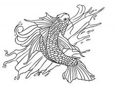 how to draw a koi fish tattoo step 7