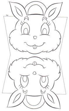 carte lapin à imprimer et decouper