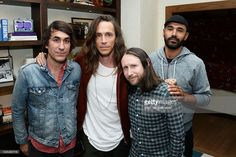 Founder of The Bungalow Huntington Beach Brent Bolthouse, singer Brandon Boyd, guitarist Mike Einziger, and bassist Ben Kenney of the band Incubus attend the Grand Opening of The Bungalow Huntington Beach at The Bungalow Huntington Beach on July 7, 2016 in Huntington Beach, California.