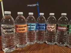 Halloween Minecraft water bottle labels for party in 2014 - crafts