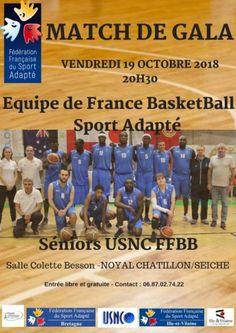 Match de Gala Equipe de France BasketBall Sport Adapté vs USNC FFBB 2018 Baseball Cards, Sports, Hs Sports, Sport