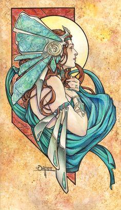 WOWEE...sooo nice. Turquoise Comic Art by Quinton Hoover