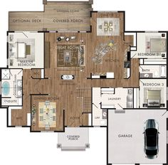 Beaver Homes and Cottages - Chinook I absolutely love this floor plan. Perfect for me as an older person. Dream House Plans, Modern House Plans, Small House Plans, House Floor Plans, My Dream Home, Beaver Homes And Cottages, House Blueprints, House Layouts, Home Reno