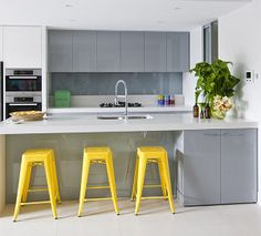 yellow tolix stools for kitchen bar