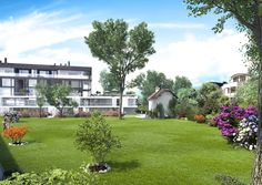 Alle #Wohnungen blicken ins Grüne – Sie wohnen idyllisch an einem großen neu angelegten Parkgrundstück.