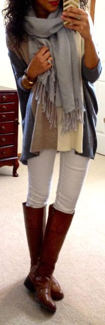 Hello, Gorgeous!: threads. Love the gray scarf