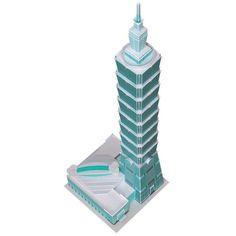 Taipei 101 Skyscraper Paper Model by Paperlandmarks on Etsy, $21.00