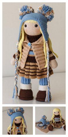 Crochet amigurumi 277182552054234972 - Amigurumi Baker Lily Doll Free Pattern – Free Amigurumi Patterns Source by Doll Amigurumi Free Pattern, Crochet Dolls Free Patterns, Amigurumi Doll, Knitted Dolls Free, Knit Or Crochet, Crochet Toys, Crochet Beanie, Knitting Projects, Crochet Projects