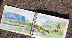 First two page spread... The park let itself  to  two page spreads, I took advantage of the situation , using my 'artists license' ofte...
