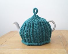 Hand Knitted Tea Cosy Teal - IMBER